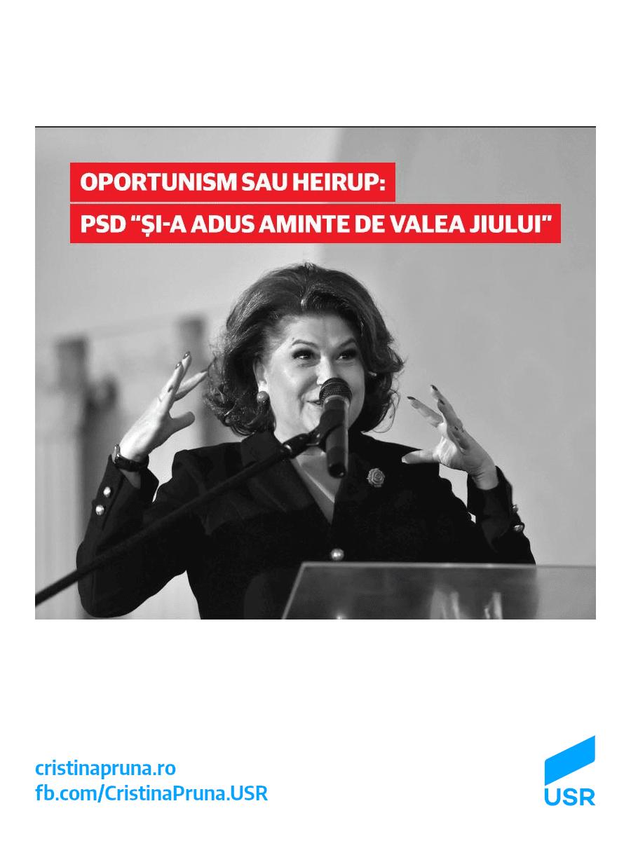 """Oportunism sau heirup: PSD """"și-a adus aminte de Valea Jiului"""""""