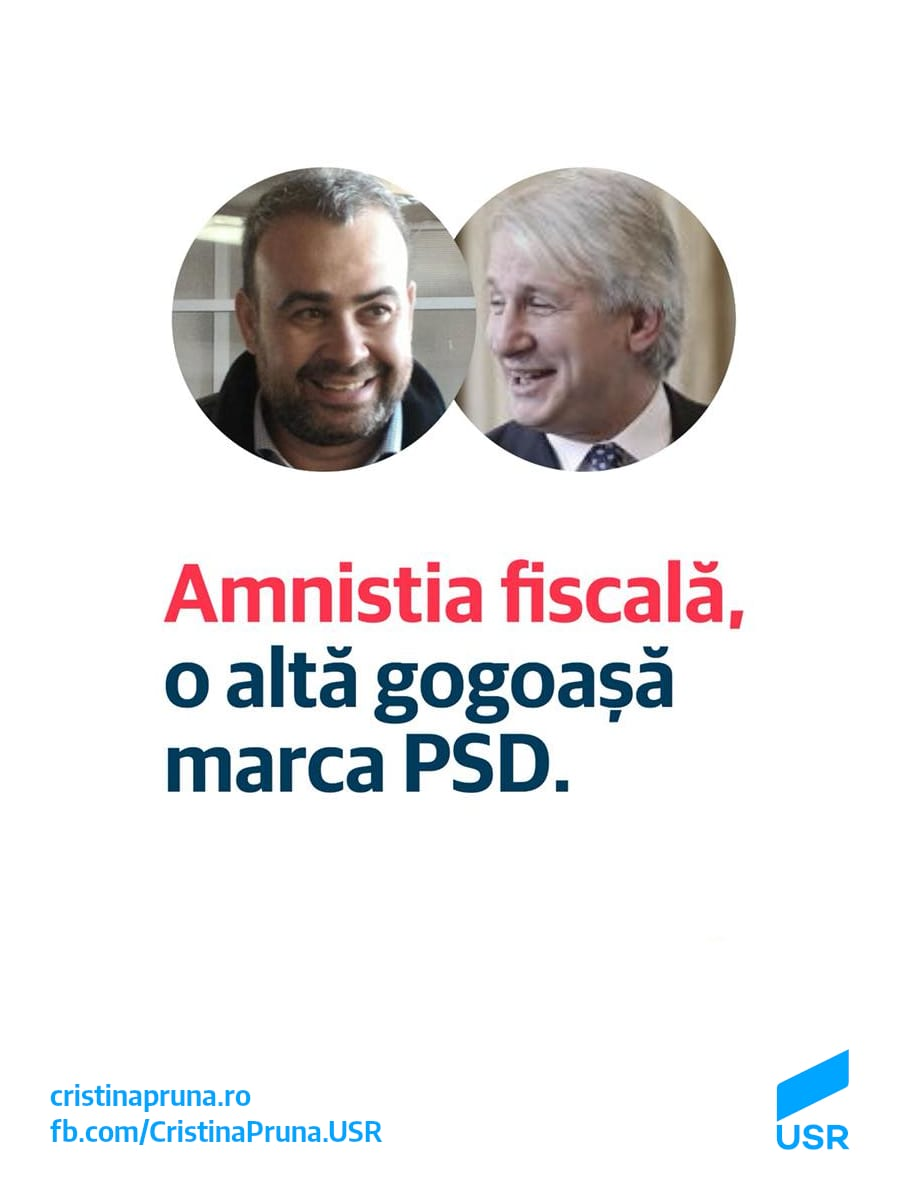 Amnistia fiscală, o altă gogoașă marca PSD