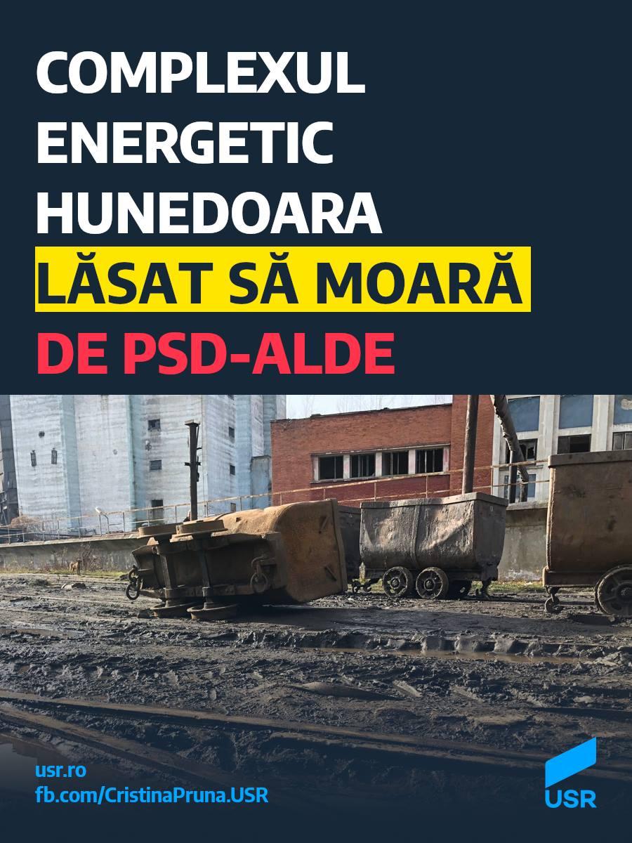 Complexul Energetic Hunedoara lăsat să moară de PSD-ALDE
