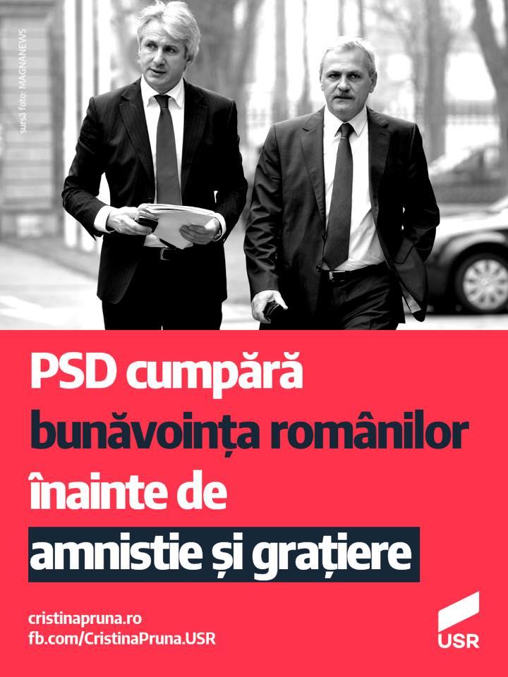 PSD cumpără bunăvoința românilor înainte de amnistie și grațiere