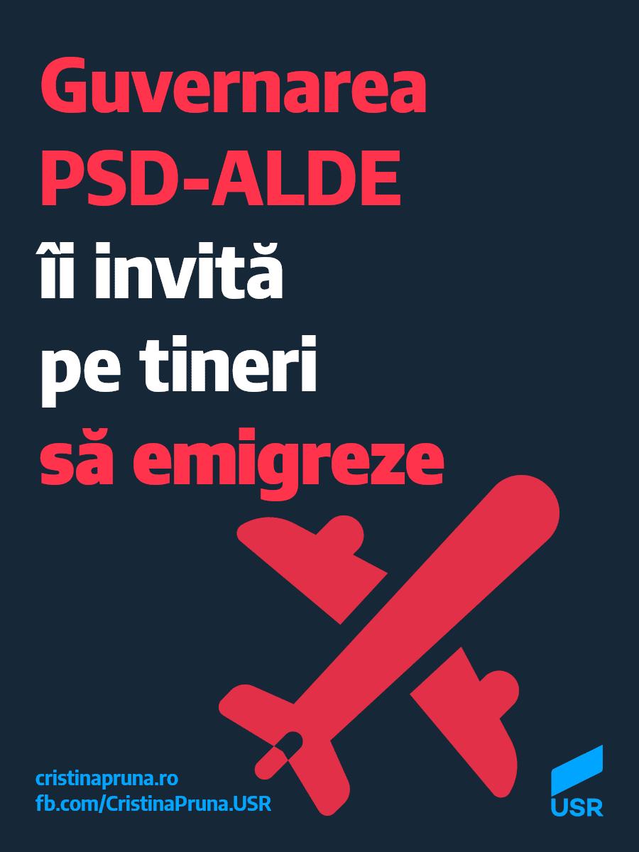 Guvernarea PSD-ALDE îi invită pe tineri să emigreze