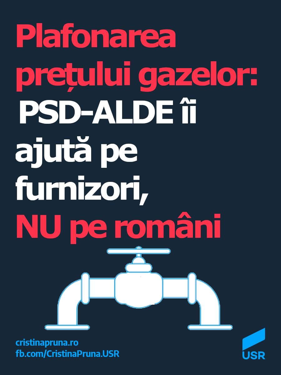 Plafonarea prețului gazelor: PSD-ALDE îi ajută pe furnizori, nu pe români