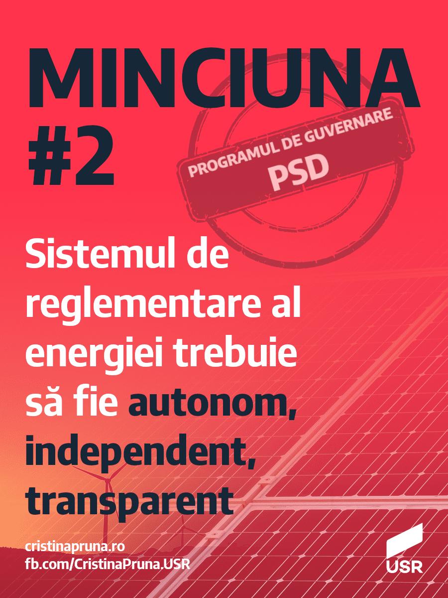 Minciuna #2 - Sistemul de reglementare al energiei trebuie să fie autonom, independent, transparent