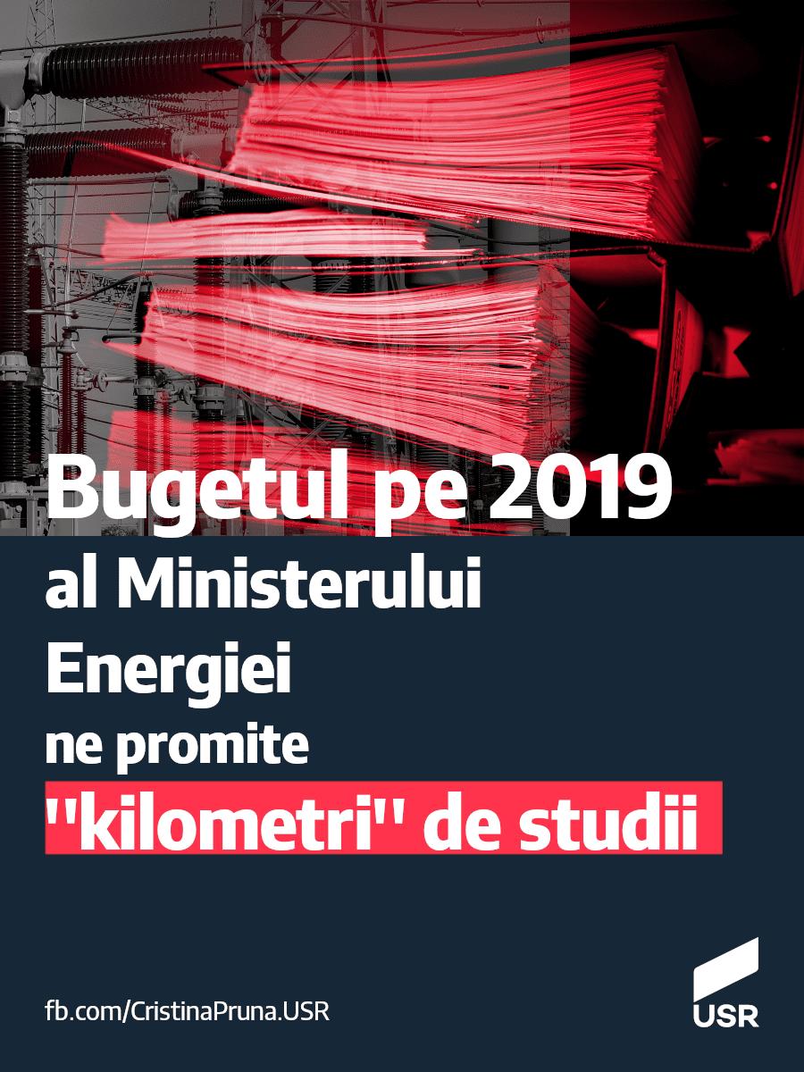 """Bugetul pe 2019 al ministerului Energiei ne promite """"kilometri"""" de studii!"""