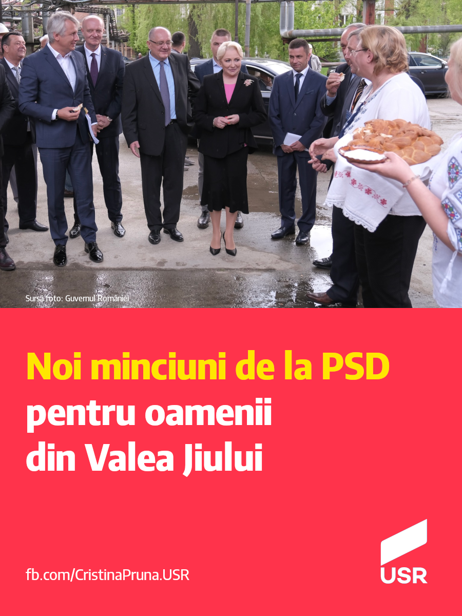 Noi minciuni de la PSD pentru oamenii din Valea Jiului