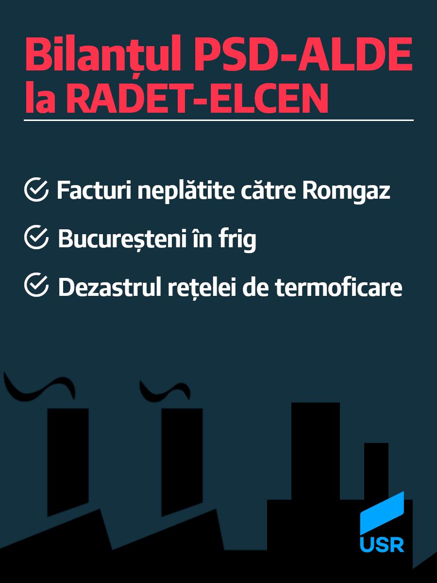Bilanțul PSD-ALDE la RADET-ELCEN
