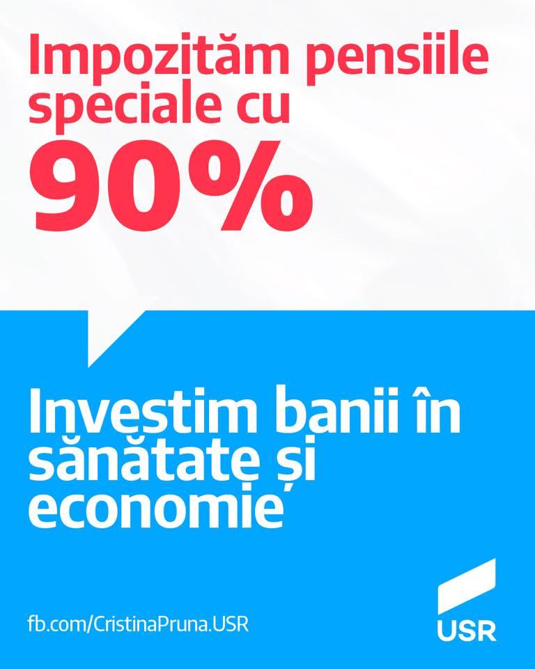 Impozităm pensiile speciale cu 90%